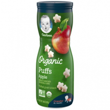 Gerber Organic Puffs Apple 42g (6pc/carton)