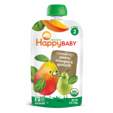 Happy Organic Stage-2 Pears Mango Spinach 113g (16pcs/carton)