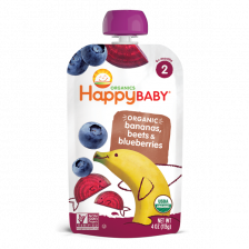 Happy Organic Stage-2 Banana Beet Blueberry 113g (16pcs/carton)
