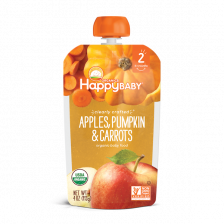 Happy Organic Clearly Crafted Apple Pumpkin and Carrot 113g(16pcs/Carton)