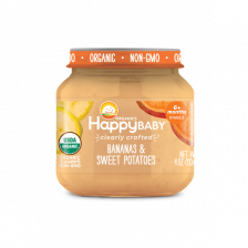 Happy Organic Stage-2 Banana Sweet Potato 113g (6pcs/Pack)