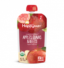 Happy Organic Clearly Crafted Apple Guavas and Beets 113g(16pcs/Carton)