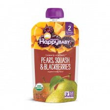 Happy Organic Clearly Crafted Pears Squash & Balackberries 113g(16pcs/Carton)