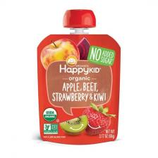 Happy Organic Apple Beet Strawberry Kiwi Pouch 99g (16pcs/ctn)