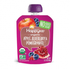 Happy Organic Apple Blueberry Pomegranate Pouch 90g (16pcs/ctn)