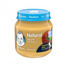 Gerber Natural 1st Foods Glass Jar Apple 113g(10pcs/carton)