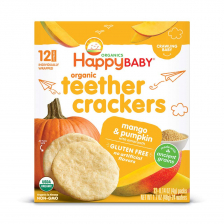 Happy Organic Teethers Cracker Mango Pumpkin 48g (6pcs/Carton)