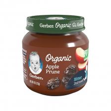 Gerber Organic 2nd Foods Glass Jar Apple Prune 113g(10pcs/carton)