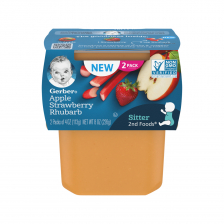 Gerber 2nd Foods Apple Strawberry Rhubarb 113g(8pcs/carton)