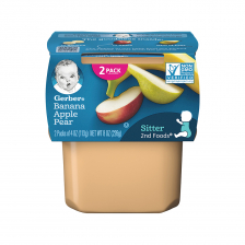 Geber 2nd Foods Banana Apple Pear 113g(8pcs/carton)