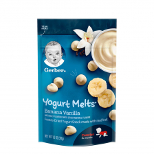 Gerber Dries Yogurt Melts Banana Vanilla 28g (7pcs/carton)