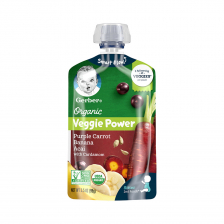 """Gerber Organic 2nd Foods Purple Carrot Banana  Acai Cardamom"" Pouch 99g(12pcs/carton)"