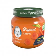 Gerber Organic 1st Foods Glass Jar Carrot 113g(10pcs/carton)
