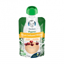 Gerber Organic Infused Water Cherry Pouch 104ml(16pcs/carton)