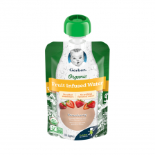 Gerber Organic Infused Water Strawberry Pouch 104ml(16pcs/carton)