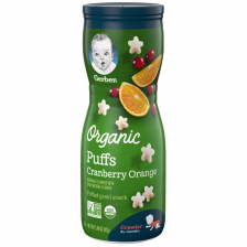 Gerber Organic Puffs Cranberry Orange 42g (6pc/carton)