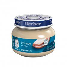 Gerber 2nd Foods Glass Jar Turkey and Gravy 71g(10pcs/carton)