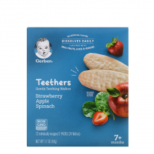Gerber Teethers, Strawberry Apple Spinach 42g (6pcs/carton)