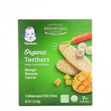 Gerber Organic Teethers Mango Banana Carrot 42g (6pcs/carton)