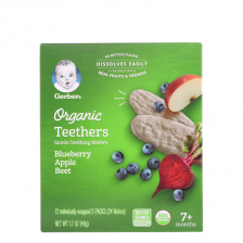 Gerber Organic Teethers Blueberry Apple Beet 42g (6pcs/carton)