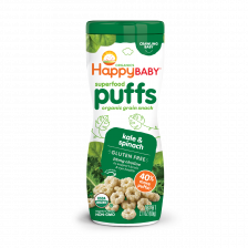 Happy Organic Puffs Kale & Spinach 60g (6pcs/carton)