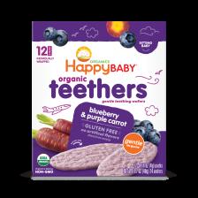 Happy Organic Teethers Bluebery Purple Carrot 48g (6pcs/Carton)
