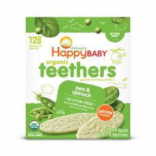 Happy Organic Teethers Pea Spinach 48g (6pcs/Carton)