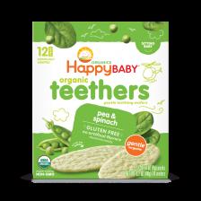 Happy Organic Teethers Pea Spinach 48g (6pcs/Carton)