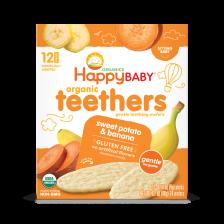 Happy Organic Teethers Banana Sweet potato 48g (6pcs/Carton)