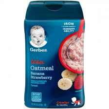Gerber Lil' Bits Oatmeal Banana Strawberry Baby Cereal 227g(6pc/carton)