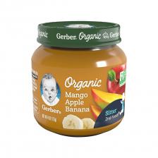 Gerber Organic 2nd Foods Glass Jar Mango Apple Banana 113g(10pcs/carton)