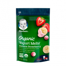 Gerber Organic Dries Yogurt Melts Fruit Banana Strawberry 28g (7pcs/carton)