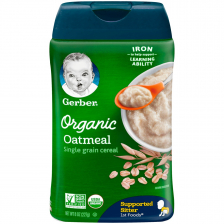 Gerber Organic Single Grain Oatmeal Baby Cereal 227g(6pc/carton)