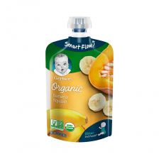 Gerber Organic 2nd Foods Banana Squash Pouch 99g(12pcs/Carton)