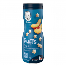 Gerber Puffs Peach 42g  (6pc/carton)