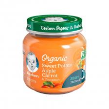 Gerber Organic 2nd Foods Glass Jar Sweet Potato Apple Carrot-Cinnamon 113g(10pcs/carton)