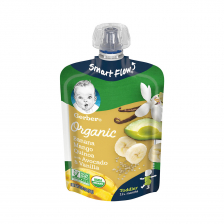 Gerber Organic Toddler Foods Banana Mango Peach Avocado Quinoa Vanilla Pouch 99g(12pcs/carton)
