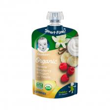Gerber Organic Banana Raspberry and Yogurt with Vanilla Pouch 99g(12pcs/carton)