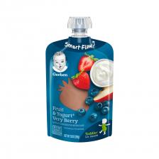 Gerber Toddler Food Fruit and Yogurt Very Berry Pouch 99g(12pcs/carton)