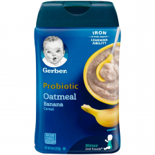 Gerber Probiotic Oatmeal Banana Baby Cereal 227g(6pc/carton)