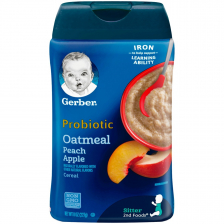 Gerber Probiotic Oatmeal Peach Apple Baby Cereal 227g(6pc/carton)
