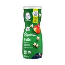 Gerber Organic Puffs Apple 42g (6pc/carton)