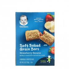 Gerber Strawberry Banana Soft Baked Cereal Bars 156g(8pcs/carton)
