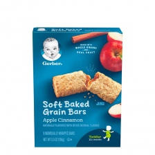 Gerber Apple Cinnamon Soft Baked Cereal Bars 156g(8pcs/carton)