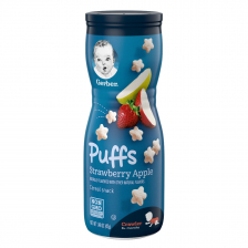 Gerber Puffs Strawberry Apple 42g  (6pc/carton)