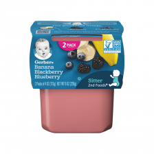 Geber 2nd Foods Banana Blueberry Blackberry 113g(8pcs/Carton)
