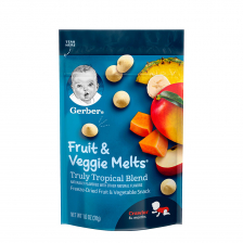 Gerber Fruit and Veggie Melts Truly Tropical Blend 28g (7pcs/carton)